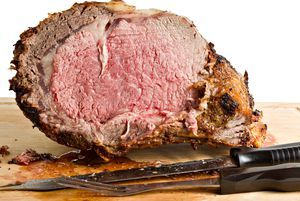 This prime rib roast recipe requires a little bit of math to calculate the cooking time, but it's easy and will give you perfect medium-rare roast.