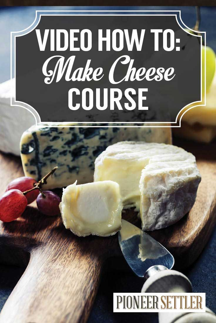 VIDEO How To Make Cheese At Home | Cheese Making Course by Pioneer Settler http://pioneersettler.com/how-to-make-cheese-at-home-cheese-making-course/
