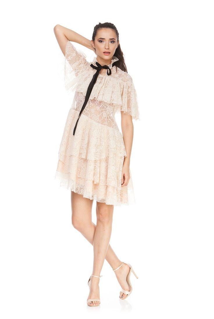 Rochie din dantela cu maneca scurta NICOLLE de la Ama Fashion