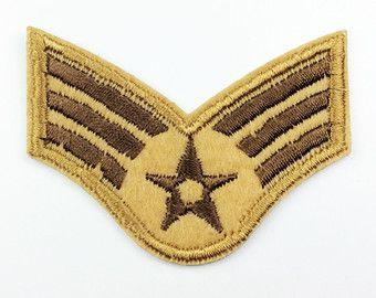 Air Force patches sergent maître de rang insigne patch insignes militaires insignes broderie fer sur Patch correctif coudre
