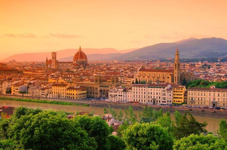 Widok na Florencję z Piazzale Michelangelo, Włochy