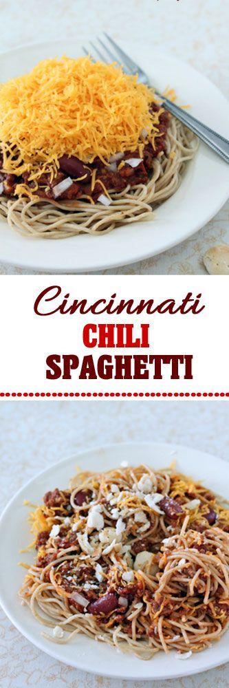 Cincinnati Chili Spaghetti #chili #spaghetti #dinner