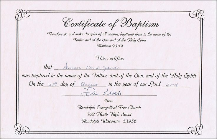 baptism certificate templates for word