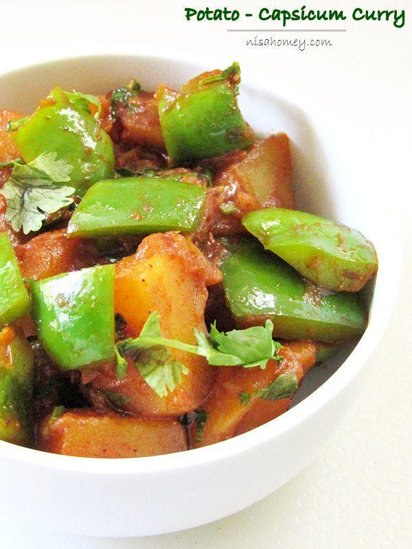 Punjabi Style Potato and Capsicum Curry...from scratch!! #punjabifood #indianfood #aloocapsicum #vegrecipes #sidedish