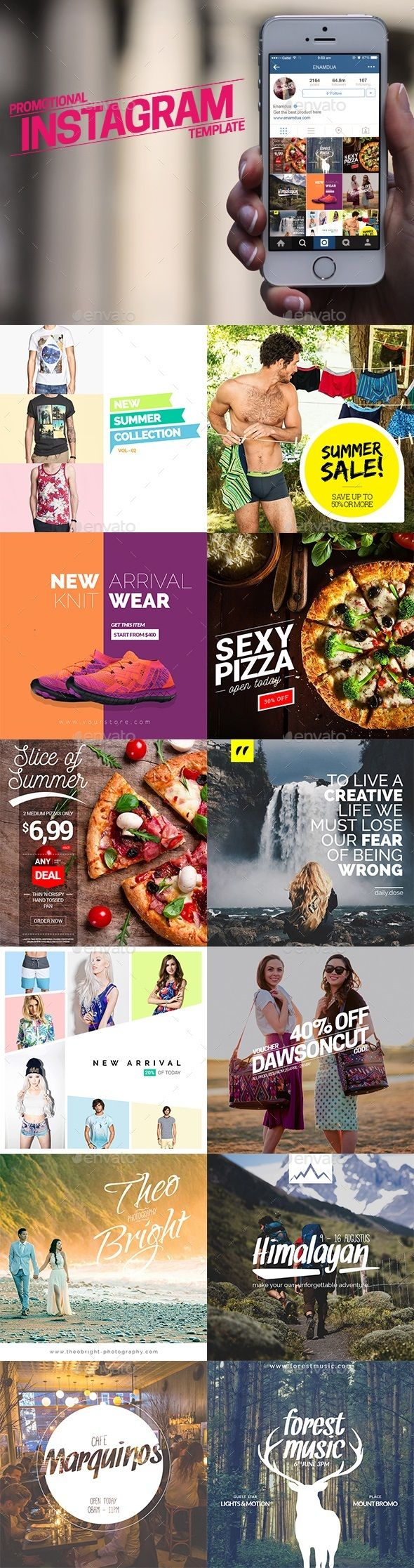 Instagram Promotional Templates