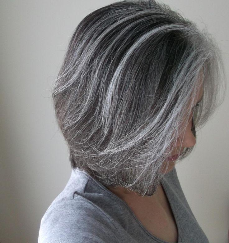 ... Highlights Hair, Gray Hair Streak, Gray Hair Highlights, Gray Streak
