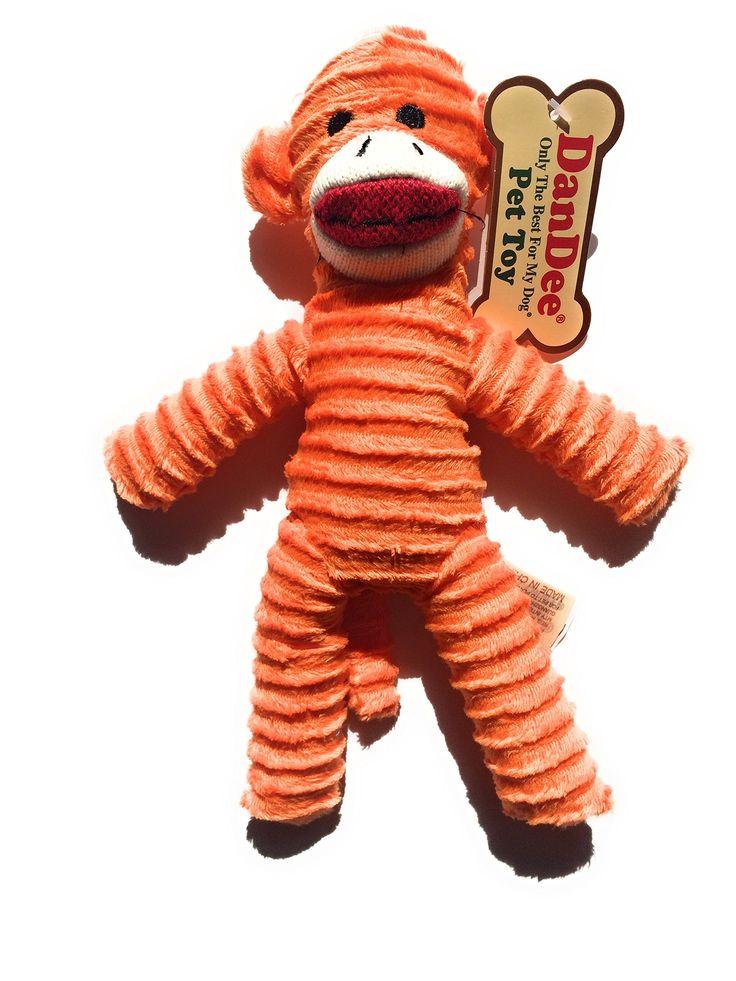 Dan Dee Only The Best For My Dog Pet sock Monkey Toy Blue