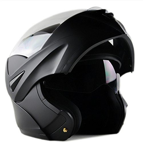 [Upgrades] ILM 10 Colors Motorcycle Dual Visor Flip up Modular Full Face Helmet DOT (M, Matte Black). For product info go to:  https://www.caraccessoriesonlinemarket.com/upgrades-ilm-10-colors-motorcycle-dual-visor-flip-up-modular-full-face-helmet-dot-m-matte-black/