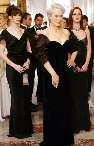 Necklines of the gods.  I would kill people for Anne Hathaway's John Galliano dress in this scene.