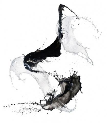 Shinichi Maruyama's liquid calligraphy.