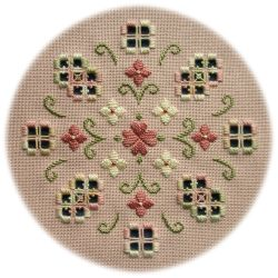 Spring Romance - an original Hardanger design of delicate flowers in soft romantic colours