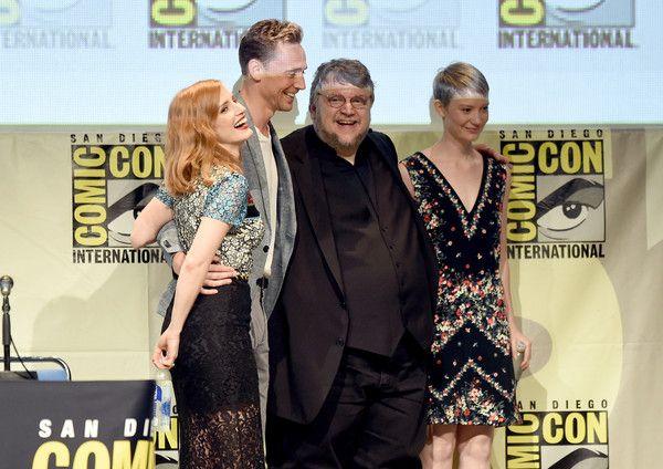 Guillermo del Toro,Mia Wasikowska,Jessica Chastain,Tom Hiddleston -  Comic-Con International 2015 - Legendary Pictures Panel - Zimbio