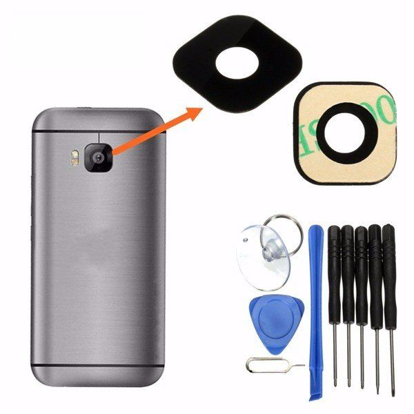 Camera Lens Film Lens Cover Rear Camera Cover Chassis Kit for HTC ONE M9…