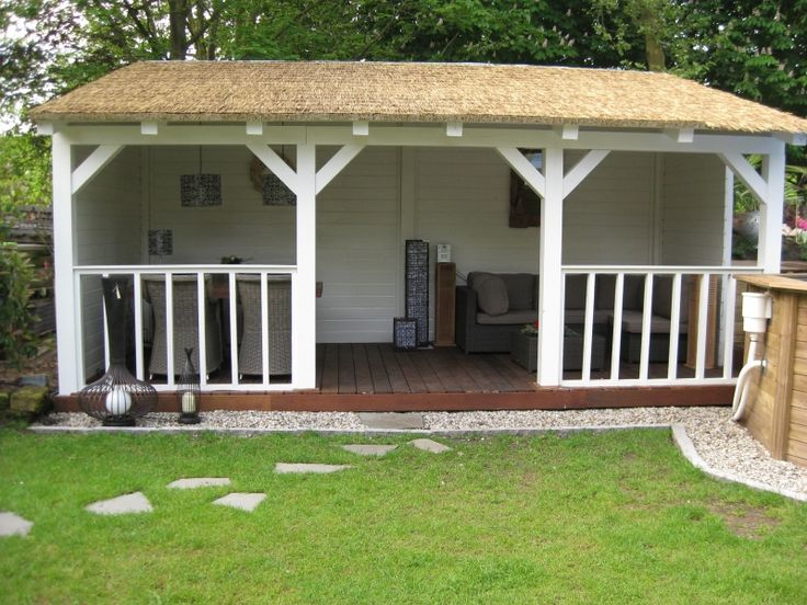 Veranda met kunstrieten dak | Houtenveranda.nl