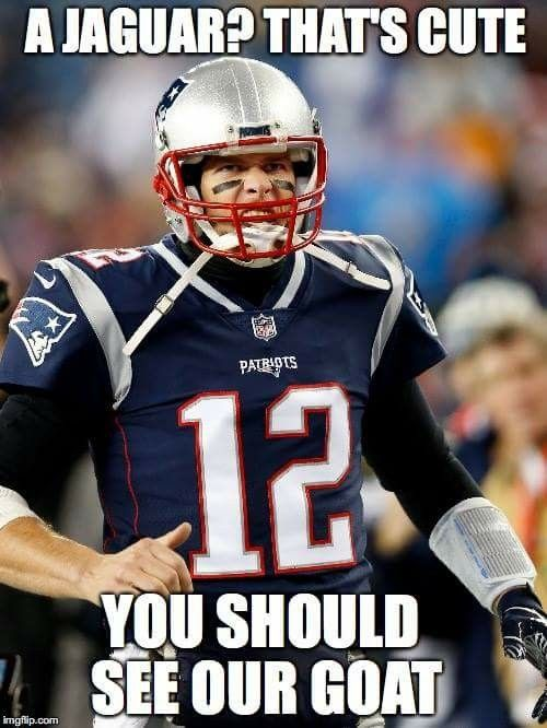 The Jacksonville Jaguars are no match for the GOAT!   LET'S GO New England Patriots!