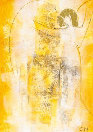 Christel Holl: Engel der Begegnung   Angels   Painting, Angel