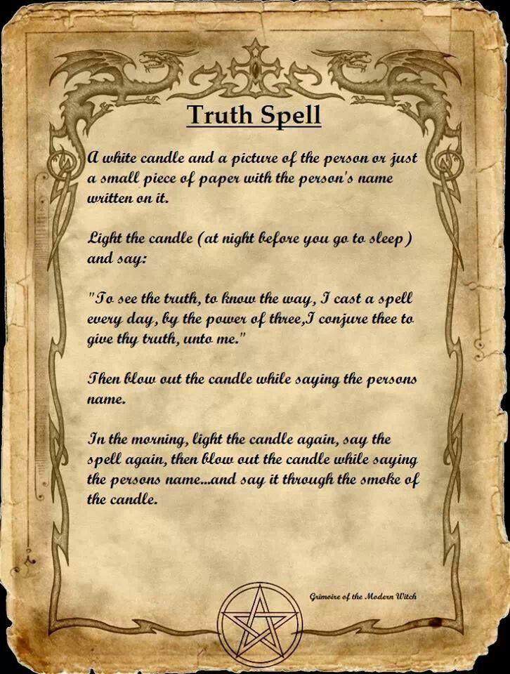 Magick Spells: Truth #Spell.