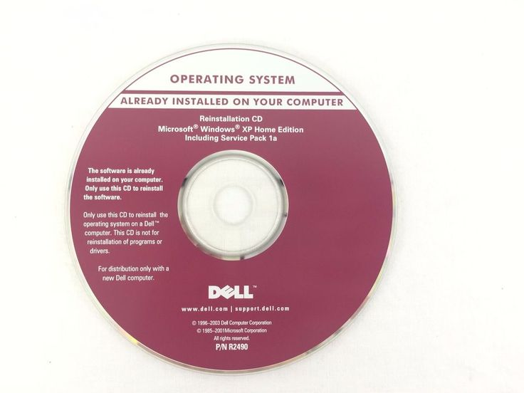 Operating System Reinstallation CD Microsoft XP Home Edition Service Pack 1a #Dell