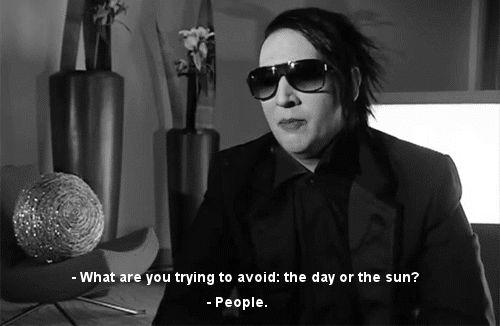 Marilyn Manson quote :)