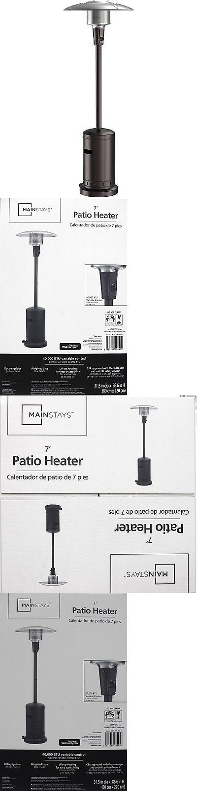 Good Patio Heaters 106402: Patio Portable Large Heater Wheels Outdoor Firepit  Propane Night New Mainstays