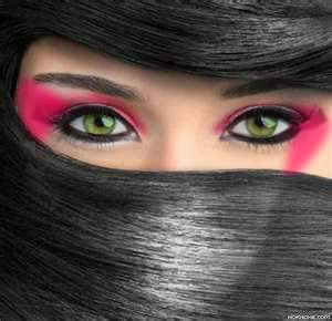 ninja inspired eye makeup