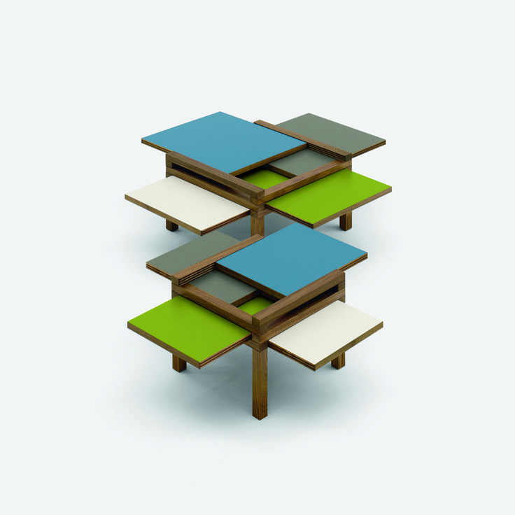 Discover the beautiful #MiniPar4! #table #style #wood #colors #finishes #palette #smalltables #wooden #furnish #furniture #design #designlove #designers