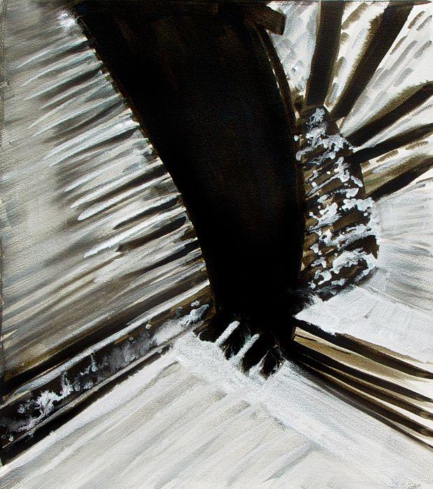"""Silk Road"" by Bianka Guna Art 2007 Series Acrylic on Paper 30""x22"""