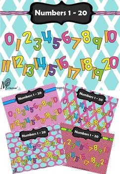 This fun and colourful FREE Numbers 1 - 20 bundle of posters is designed to assist students in learning to count to 20 in a fun and colourful way. You have the choice of 5 great posters to mix and match with your classroom colour scheme. I suggest that it is best to print this poster off in A3 size to have an impact in your classroom, laminate and then hang up.I hope you love this resource and I look forward to hearing your feedback and comments.