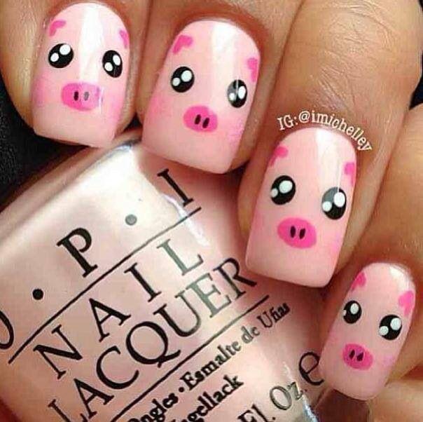 Decorado de u as con cerditos nails pinterest pig - Decorados de unas ...