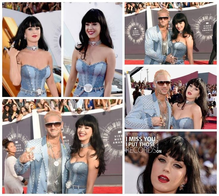 Katy perry's look from the red carpet with Rapper Riff Raff #vma
