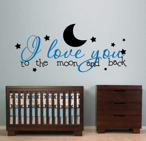 Nusery Decor I Love You to the Moon and Back Kids by NewYorkVinyl, $21.95