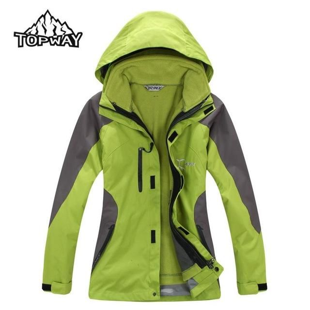 2017 Casual 3in1 Trekking Casaco Outdoors Jacket Women Waterproof Jaqueta Feminina Abrigos Coat Windbreaker Chaquetas Mujer