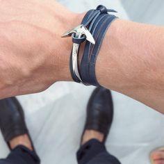 Leather Anchor Bracelet Men/Women