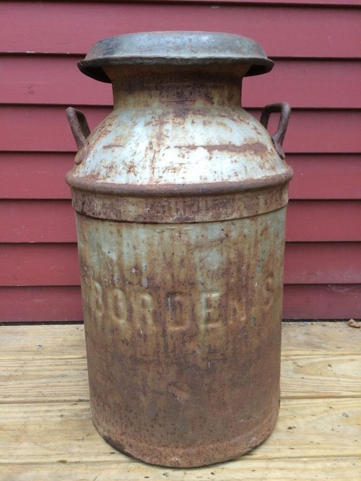 Antique Vintage Borden S Ny Milk Can Keiner Williams Kw 10
