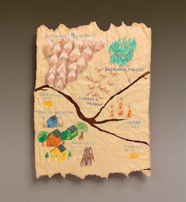 Yippee! There's gold in the hills somewhere! Make a pretend map so you can find the treasures.