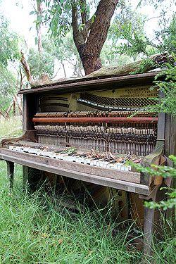 Piano graveyard, York