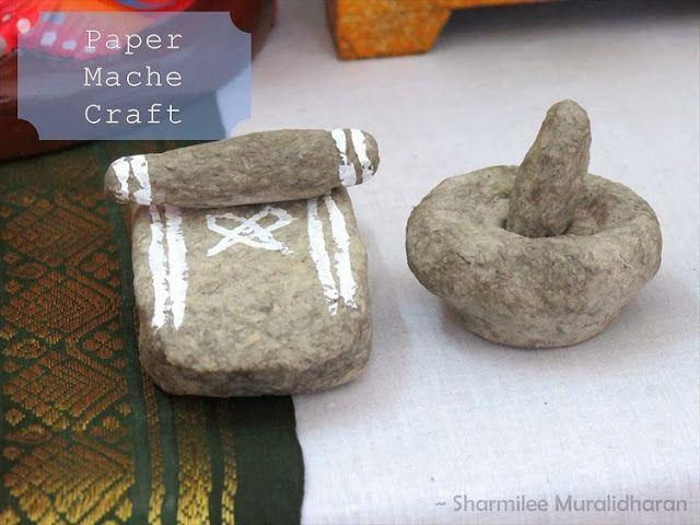 Navratri Craft Paper Mache craft idea