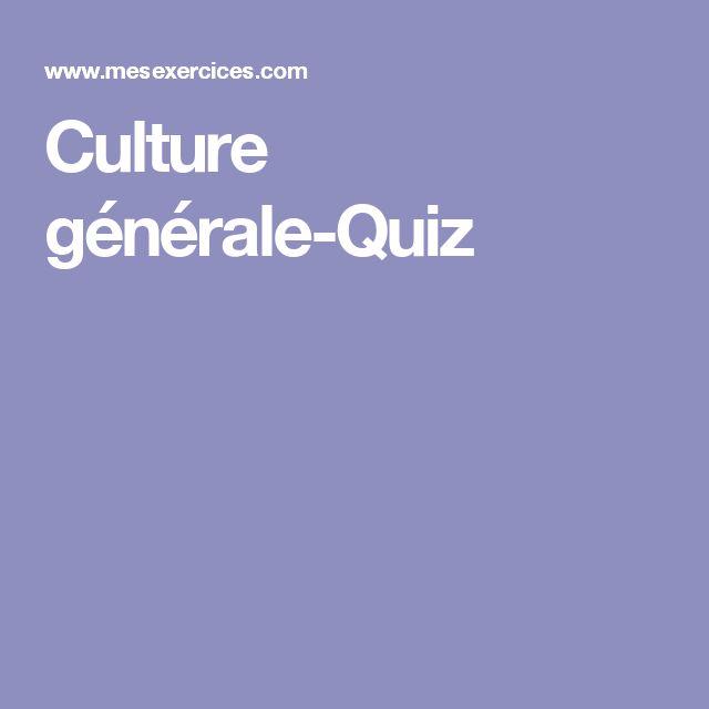 Culture générale-Quiz