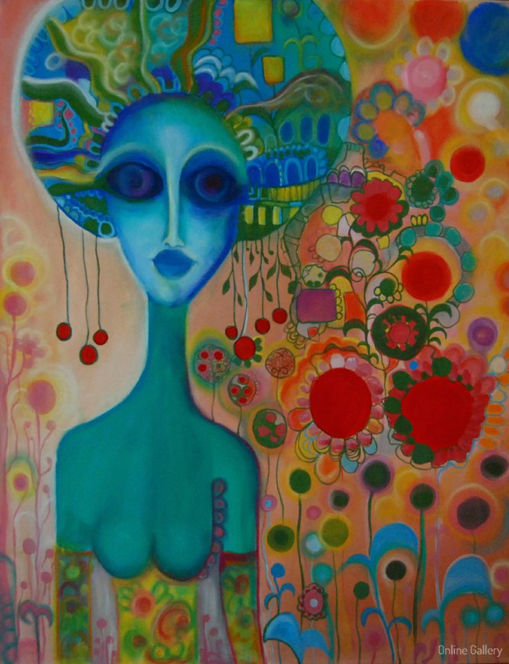 The deep blue – pictura pe panza #art, #Painiting, #Creative