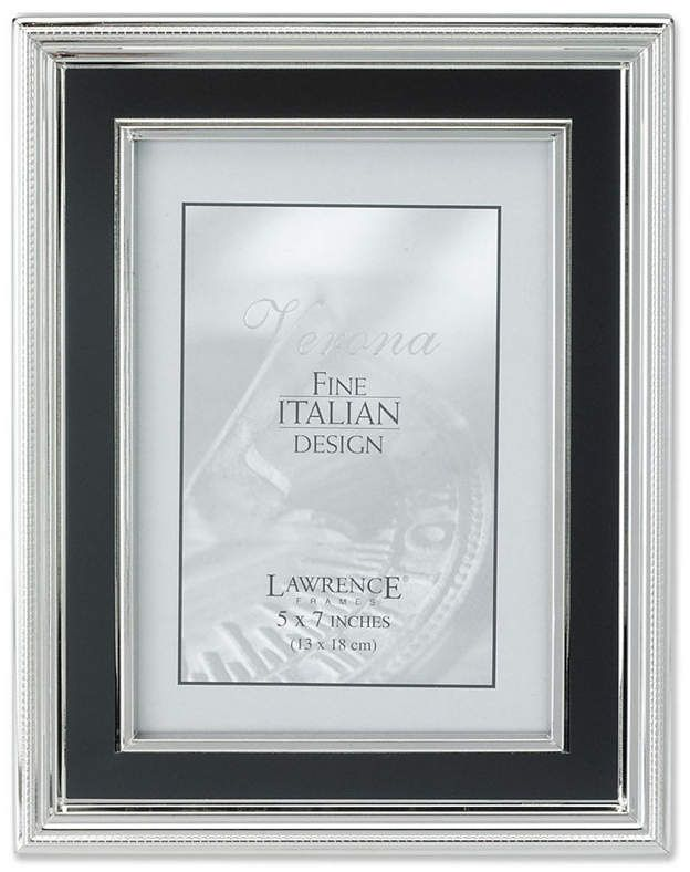 Lawrence Frames Silver Plated Metal Picture Frame Satin Black Inner Panel 5 X 7 Metal Picture Frames Picture Frames Frame