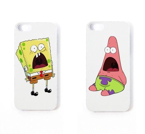 Spongebob and Patrick surprised BFF iPhone cases