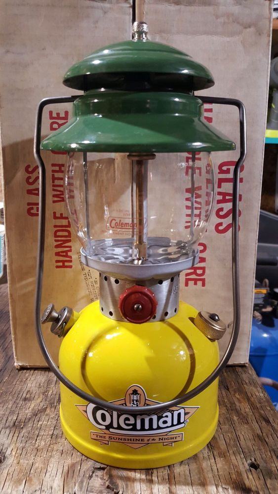 COLEMAN 6/66 MODEL 200A YELLOW/GOLD SINGLE MANTLE CORN LANTERN COLORED + MORE | eBay