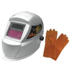 Astro Pneumatic Ast8075Se Deluxe Solar Auto-Darkening Welding Helmet With Free Pair Of Gloves