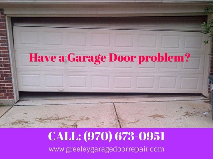 Have a Garage Door problem? We can fix it! Call Greeley Garage Door Repair at (970) 673-0951 or visit on www.greeleygaragedoorrepair.com