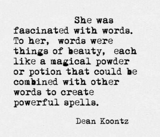 Words who create powerful spells