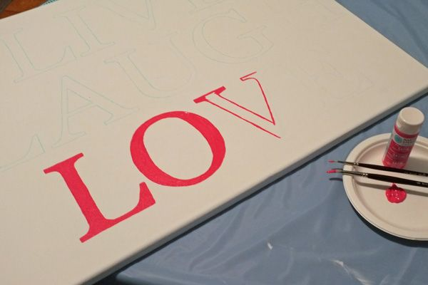 How to paint letters on canvas