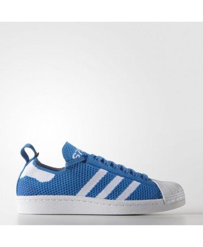 4248ddd9bc Scarpa Adidas Donne Originals Superstar 80S Primeknit Blu Bianche Migliori  Offerte