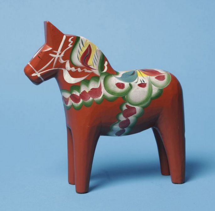 "Red Dala Horse - 3"""