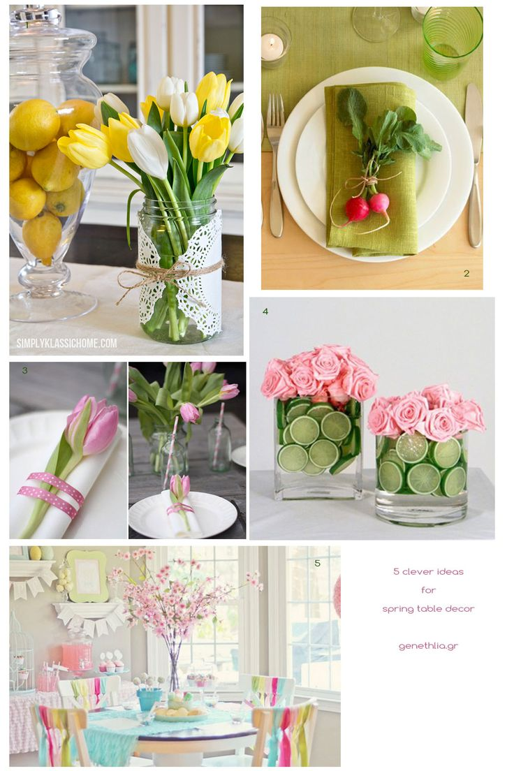 5 clever ideas for spring table decor!