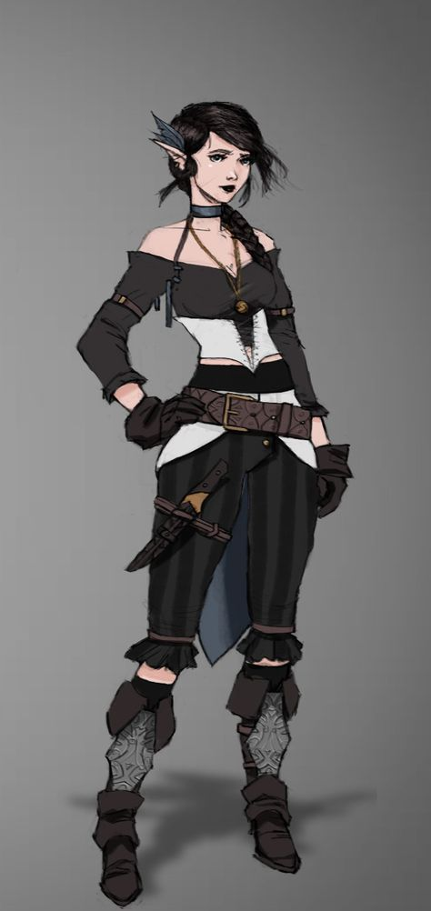 Character concept art for personal project. Character is from Critical Role.